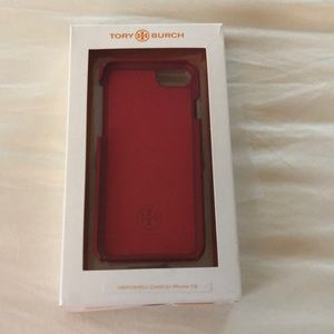 Tory Burch Hardshell Case for iPhone 7/8 in red